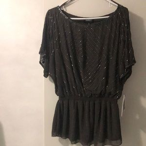 Adrianna Papell beaded special occasion top sz XL
